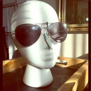 Women's Wire Frame Polarized Sunglasses